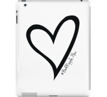 #BeARipple...Flow Black Heart on White iPad Case/Skin