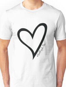 #BeARipple...Flow Black Heart on White Unisex T-Shirt