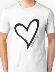 #BeARipple...Flow Black Heart on White T-Shirt
