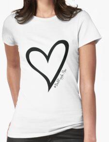 #BeARipple...Flow Black Heart on White T-Shirt
