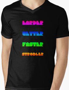 Harder Better Faster Stronger Mens V-Neck T-Shirt