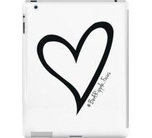 #BeARipple...Focus Black Heart on White iPad Case/Skin