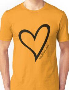 #BeARipple...Focus Black Heart on White Unisex T-Shirt
