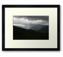 ring of kerry mnts Framed Print