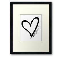 #BeARipple...GRATITUDE Black Heart on White Framed Print
