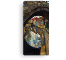 Prague Chertovka Reflection Canvas Print