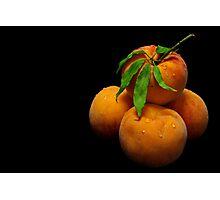 Orange Peaches Photographic Print