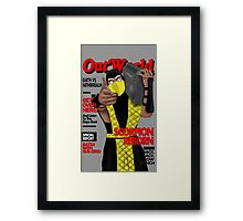 Scorpion On The Cover Framed Print