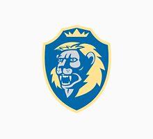 Angry Lion Head Roar Shield Retro Unisex T-Shirt
