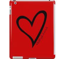 #BeARipple...Gratitude Black Heart on Red iPad Case/Skin