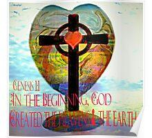 Genesis 1:1 (Art and Writing) Poster
