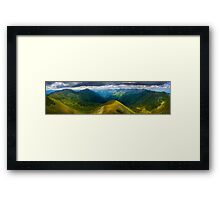 Romanian mountains panorama Framed Print