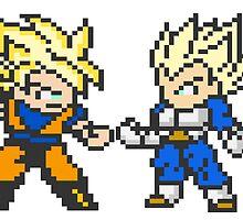 Dragon Ball Z Goku Vs. Vegeta by BIGSAUCE