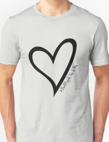 #BeARipple...You & Me Black Heart on White Unisex T-Shirt