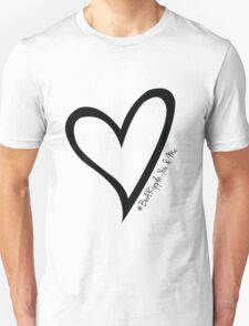 #BeARipple...You & Me Black Heart on White T-Shirt
