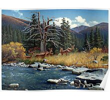 The Wu Shan Fairy Series Deer By River Poster