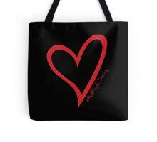 #BeARipple...Destiny Red Heart on Black Tote Bag