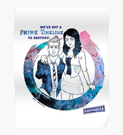 Community: Evil Jeff & Evil Annie Poster