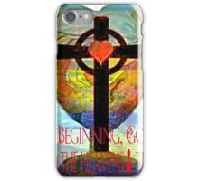 Genesis 1:1 (Art and Writing) iPhone Case/Skin