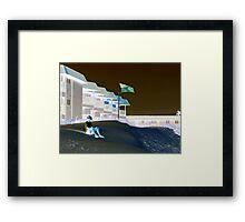 Dune Sitter Framed Print