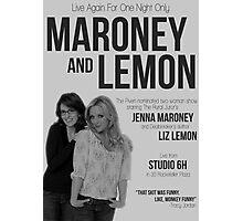 Maroney and Lemon Photographic Print