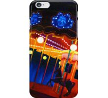 Carousel , Oil Painting bright night carnival creepy scene , Illustration Art Print  iPhone Case/Skin