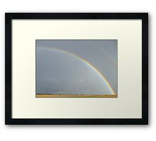 huge rainbow.. Framed Print