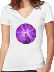 Overpowered Women's Fitted V-Neck T-Shirt