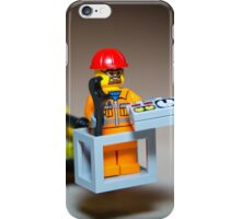 Lego Worker on Lift Construction iPhone Case/Skin
