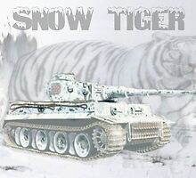 Snow Tiger by Mil Merchant