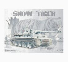 Snow Tiger One Piece - Short Sleeve