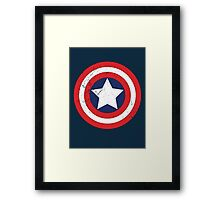 Captain America - Shield Framed Print
