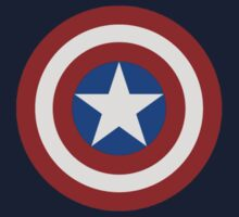 Simple 2D Captain America Shield by acree10