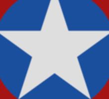 Simple 2D Captain America Shield Sticker