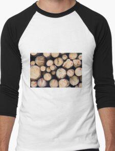 tree trunk Men's Baseball ¾ T-Shirt