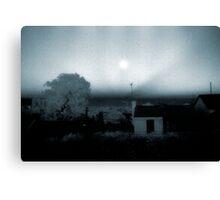 midnight sun over enmore Canvas Print