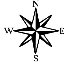 Compass Rose (monochrome) by theshirtshops