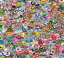 Stickerbomb Giant by MuralDecal