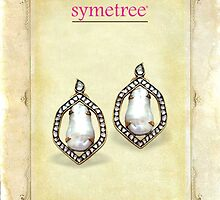 Pearl and Polki Earring by SymetreeIND