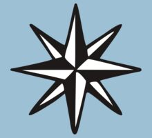 Compass Rose (Two-Color) Kids Clothes