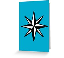 Compass Rose (Two-Color) Greeting Card