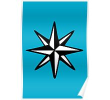 Compass Rose (Two-Color) Poster