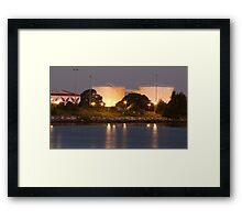 Towers at the Airport Framed Print