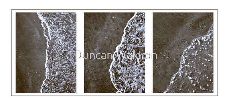 Surf triptych II by Duncan Waldron