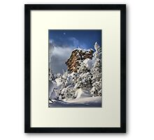 These Winter Snow Mountains  Framed Print
