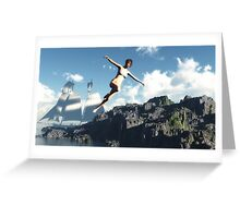 Le saut de l'ange / The jump of the angel Greeting Card
