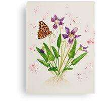 Laced Fritillary & Arrowhead Violet Canvas Print