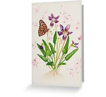 Laced Fritillary & Arrowhead Violet Greeting Card