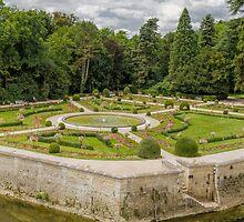 Garden of Diane de Poitiers, Chateau de Chenonceaux, Loire Valley, France #3 by Elaine Teague