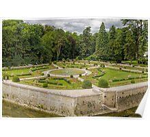 Garden of Diane de Poitiers, Chateau de Chenonceaux, Loire Valley, France #3 Poster